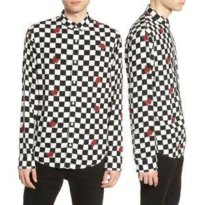 The Rail Rose Checkered Long Sleeve Button Shirt